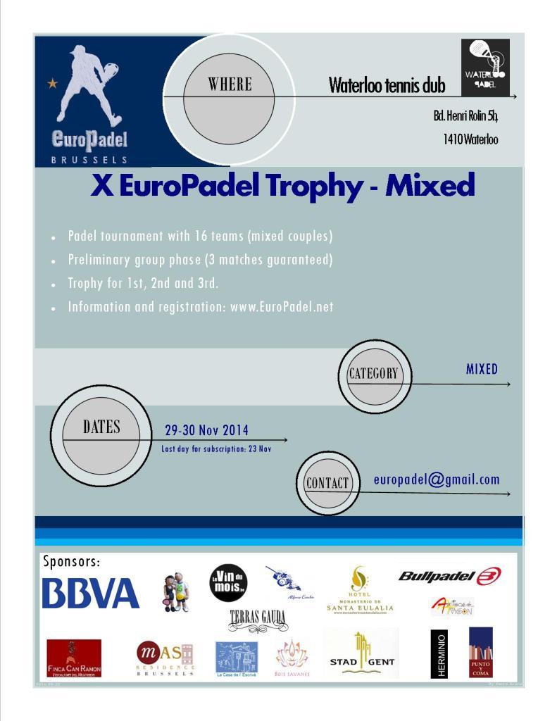 X Torneo EuroPadel-Waterloo mixto