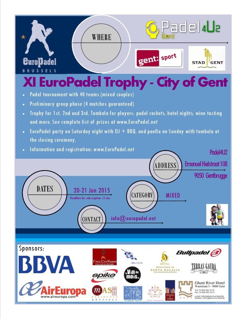 XI Torneo EuroPadel Gante Jun2015